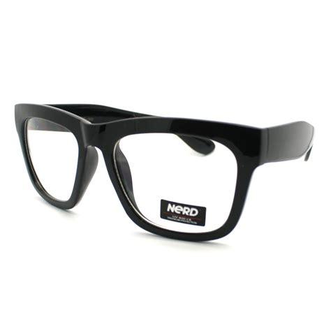 new black thick eyeglass frame oversized unisex optical