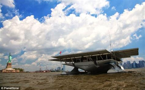 sailing boat average speed the world s largest solar boat powered by 809 panels eco