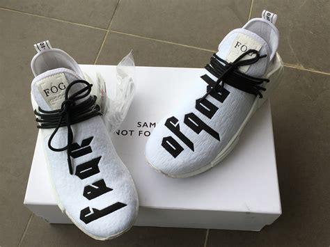 Adidas Human Race Fear Of God Black Ua Version new adidasfear of god x adidas nmd pharrell williams human race for sale hoop