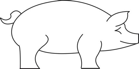 pig template 4 legged animals templates icesculptingtools