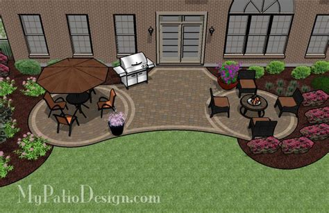 backyard paver patio designs radial patio with circle paver patterns patio designs ideas gardens outdoor
