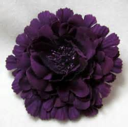 plum colored flowers eggplant plum purple hair flower clip pin band 3 in 1