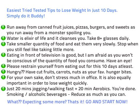 10 Ways Your Can Help You Lose Weight by Tip To Help Lose Weight Dianews