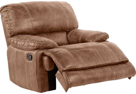 rooms to go recliner stetson ridge brown glider recliner recliners brown