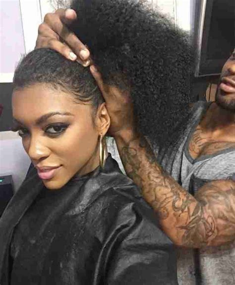 Portia Atl Housewvies Wearing Slick Ponytail | pic rhoa s porsha williams reveals her natural hair on