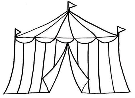 Black And White Carnival Tent Clip Art Circus Clipart  sketch template
