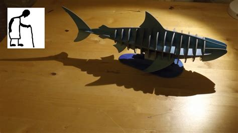 How To Make A 3d Model Out Of Paper - let s assemble a 3d cardboard shark