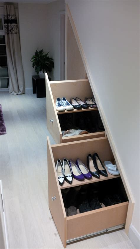 understairs shoe storage stairs surrey joinery specialists joinery and