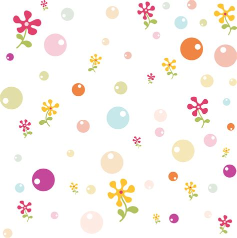 cute pattern png 壁紙 背景イラスト 花の模様 柄 パターン no 102 ポップ カラフルボール