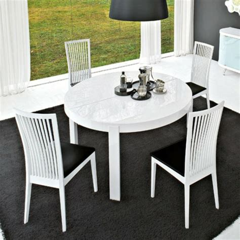 Table Ronde Extensible Blanche by Table Ronde Extensible Blanche Table Ronde Salle A Manger