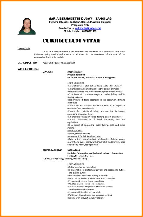 curriculum vitae objective statement exles sle resume objective for ojt tourism students resume