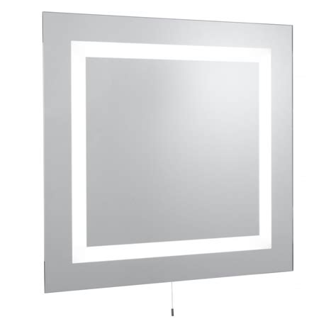 glass bathroom mirrors searchlight electric 8510 glass illuminated bathroom