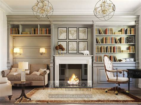 interior design of a study photos and 3d visualisations