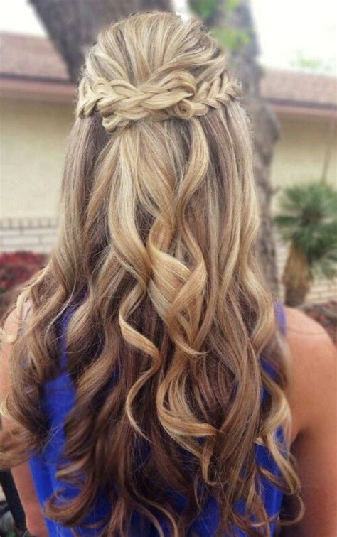half up half down curly hairstyles with braids omber half up half down braids curly hair gorgeoushair