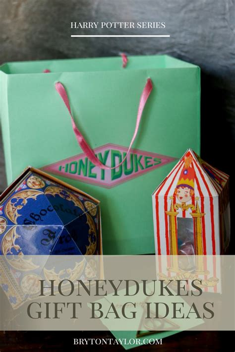honeydukes gift bag ideas harry potter hogwarts dinner party  literature