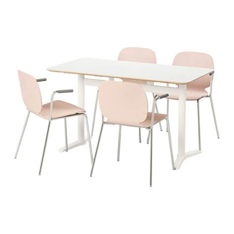 billsta svenbertil table and 4 chairs white birch 130 cm