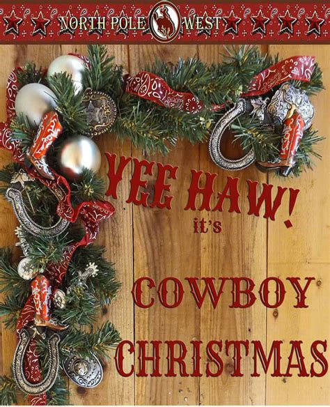 cowboy christmas ornaments invitation template
