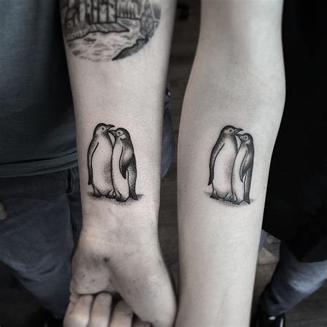 romantic couple tattoo pair of penguins tattooimages biz