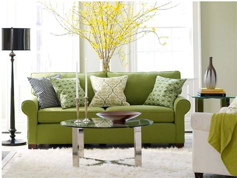 green decor home design green living room sofa