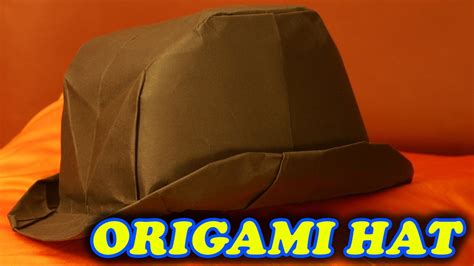 How To Make An Origami Hat - origami how to make hat from paper origami hat easy