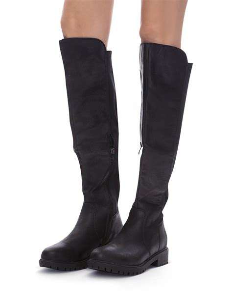 black boots cheap knee high boots 86
