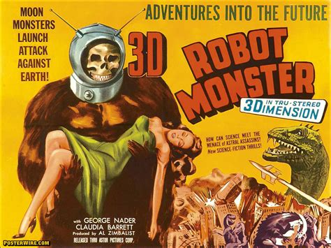 film robot monster 10 amazingly colorful vintage monster movie posters for