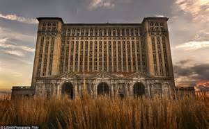 Falling apart michigan central depot pictured has been empty since