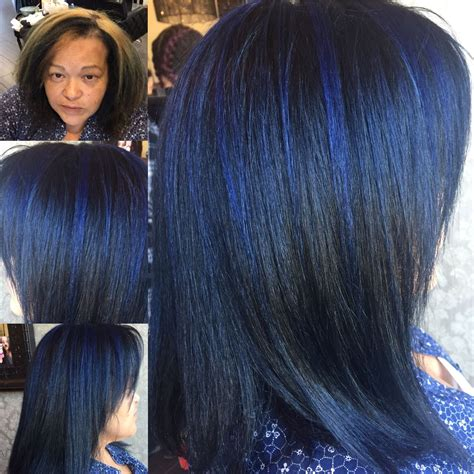 boring  blue blue hair color makeover