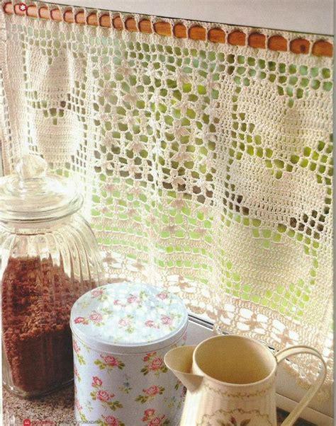 patrones cortinas ganchillo cortina a crochet orillas bordes cenefas cortinas