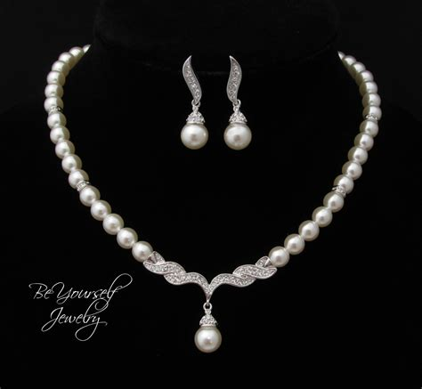 pearl for jewelry wedding jewelry pearl bridal necklace by