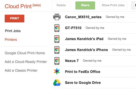 cloud print for android printing from android devices with cloud print