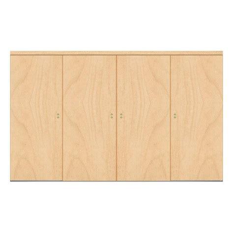 Impact Plus Closet Doors Impact Plus 144 In X 80 In Smooth Flush Stain Grade Maple Solid Mdf Interior Closet