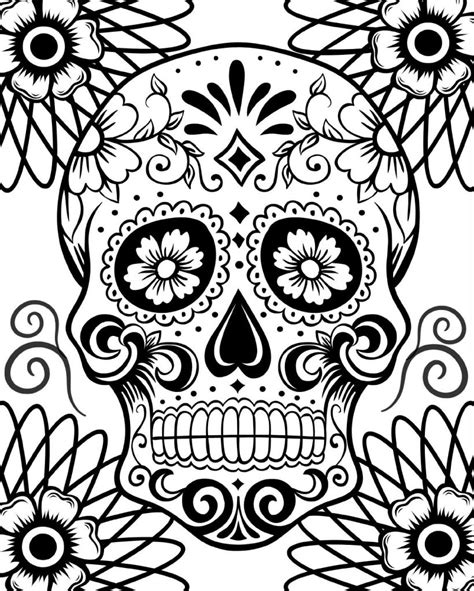 day of the dead art coloring pages free printable day of the dead coloring pages best