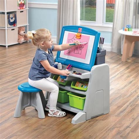 step2 flip and doodle easel desk with stool costco kohl s step2 flip doodle easel desk stool only 45 99