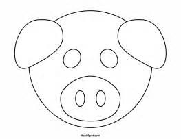 pig mask template printable pig mask