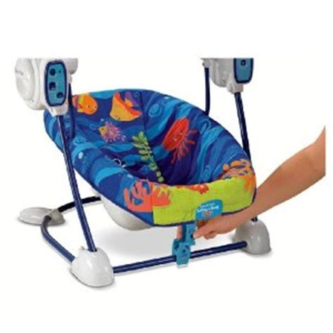ocean baby swing fisher price ocean wonders space saver take along swing
