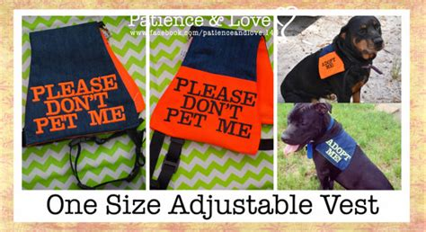 do not pet vest vest for 25 to 90lb dogs don t pet me by patienceandlove143