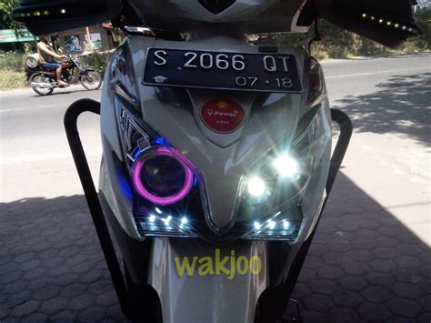 Projector Vario 150 harga lu led buat motor vario 125 caferacer 1firts