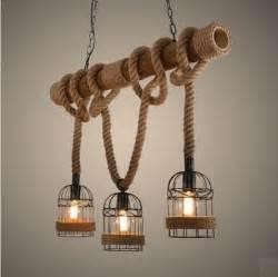 estilo loft cuerda tubo de bambu droplight edison lamparas