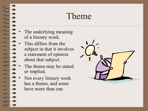 theme literary term powerpoint literary terms s