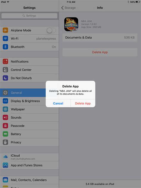 delete  app   ipad  ios  livetech