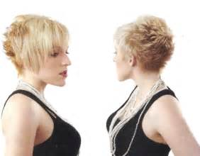 shorter hair in the back in yhe back longer on the front pics short hairstyles back view length asymmetrical pixie
