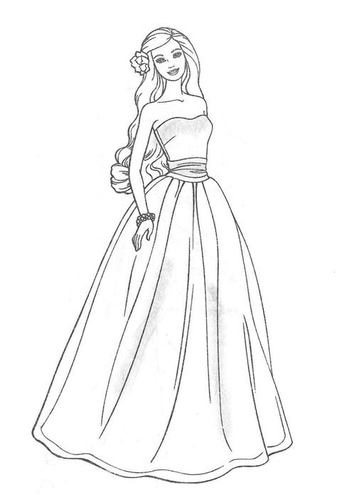 Best 25 Barbie Coloring Pages Ideas On Pinterest Barbie Princess Dress Coloring Pages Free Coloring Sheets