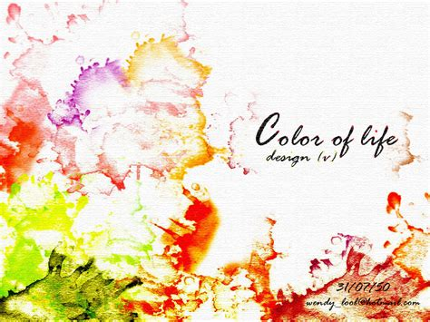 colorful life wallpaper wallpaper color of life by tanaphon on deviantart