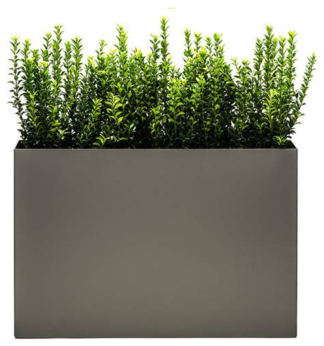 Large Outdoor Planters Modern Trough Planter Pewter Large Modern Outdoor