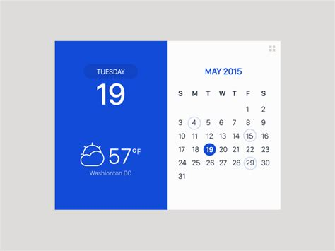 Calendar Gif Ui Ux Works By Jung