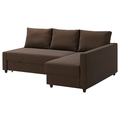 Corner Sofa With Sofa Bed Friheten Corner Sofa Bed With Storage Skiftebo Brown Ikea
