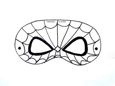 printable mask of spiderman free printable spiderman mask template craftsy