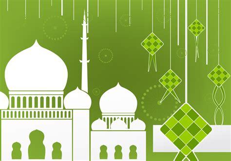 flat design  ketupat  mosque   vectors