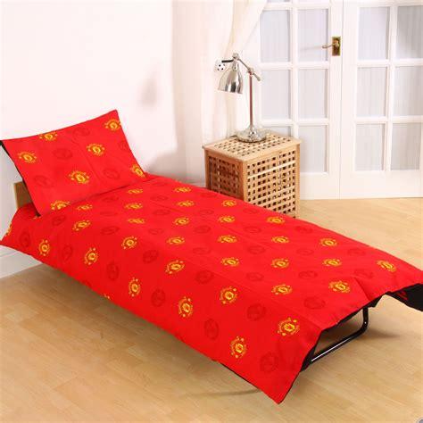 Manchester United Bed Set Official Manchester United Fc Fade Single Duvet Cover Set Childrens Bedding Set Ebay